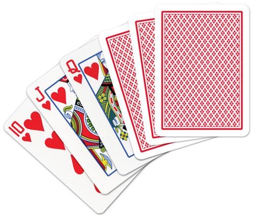 Speelkaarten - Copag 100% Plastic Poker Normal Faces Rood