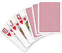 Speelkaarten - Copag 100% Plastic Poker Jumbo Faces Rood-2