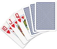 Speelkaarten - Copag 100% Plastic Poker Jumbo Faces Blauw