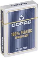 Speelkaarten - Copag 100% Plastic Poker Jumbo Faces Blauw-1