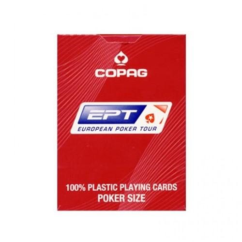Speelkaarten - Copaq EPT Poker (Rood)-1