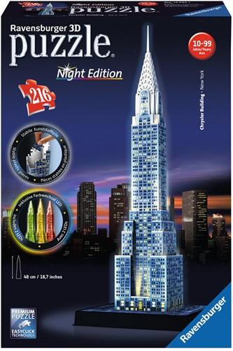 3D Puzzel - Chrysler Building - Night Edition (216 stukjes)-1