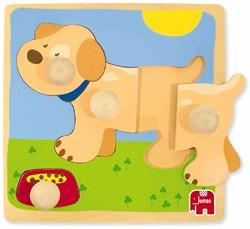 Hond Knopjespuzzel (4 stukjes)