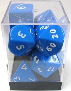 Blauwe Jumbo Polydice Set