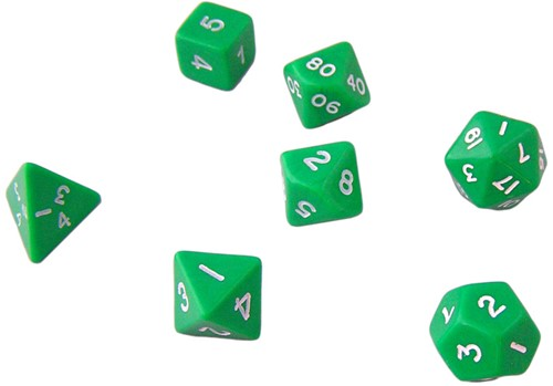 Groene Polydice Set