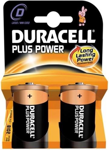 Duracell Plus Power D MN1300 / LR20 (2 stuks)