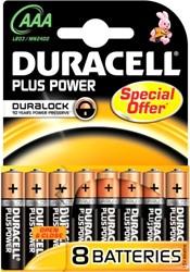 Duracell Plus Power MN2400 AAA Batterijen (8 stuks)