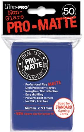 Sleeves Pro-Matte - Standaard Blauw (66x91 mm)