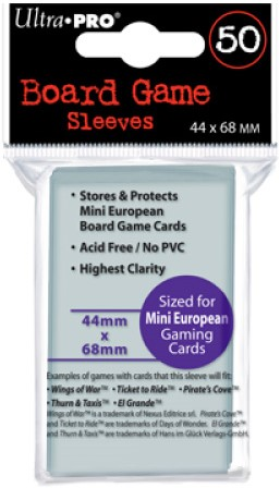 Board Game Sleeves - Mini European (44x68 mm)