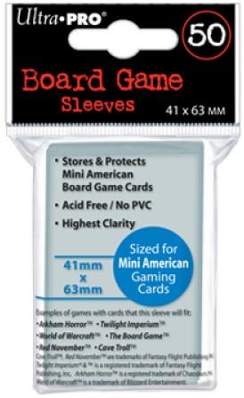 Board Game Sleeves - Mini American (41x63 mm)