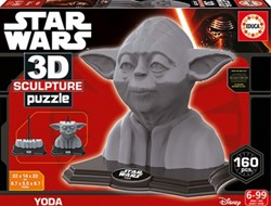 3D Sculpture Puzzel - Yoda (160 stukjes)