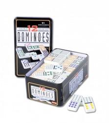 Domino Dubbel 12 in blik