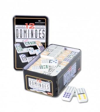 Domino Dubbel 12 in blik (Licht beschadigd)