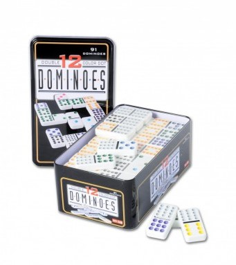 Domino Dubbel 12 in blik (Open geweest)