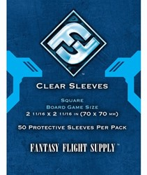Fantasy Flight - Clear Sleeves Square (70x70 mm)