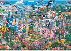 I Love Great Britain Puzzel (1000 stukjes)