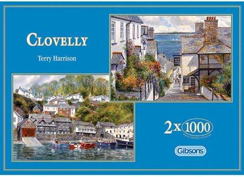 Clovelly Puzzel (2x1000 stukjes)-1
