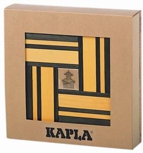 Kapla: 40 stuks kleur met boekje geel/groen