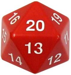 Jumbo 20 Zijdige Dobbelsteen Rood