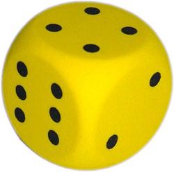 Grote Dobbelsteen met Stippen (50mm)