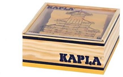 Kapla: 40 stuks in kist geel