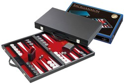 Backgammon Koffer - Standaard Rood Groot