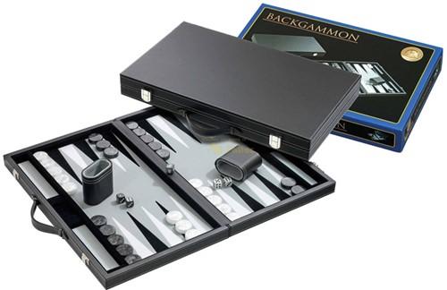 Backgammon Koffer - Standaard Grijs Groot