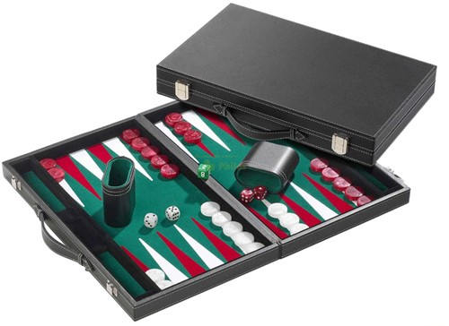 Backgammon Koffer - Standaard Groen Groot