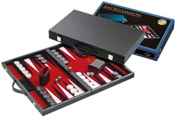 Backgammon Koffer - Standaard Rood Medium