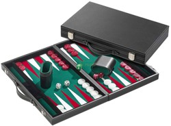 Backgammon Koffer - Standaard Groen Medium