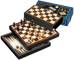 Schaak/Dam/Backgammon Koffer Reiseditie