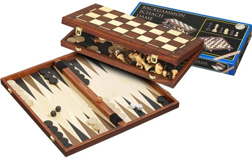 Schaak/Dam/Backgammon Cassette - 40 mm