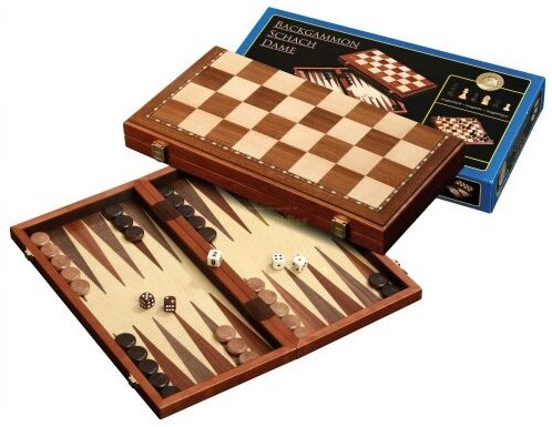 Schaak/Dam/Backgammon Cassette - 43 mm