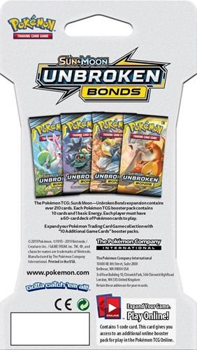 Pokemon Sun & Moon - Unbroken Bonds Sleeved Boosterpack