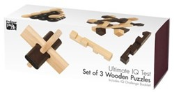 Ultimate IQ Test - Set of 3 Wooden Puzzles