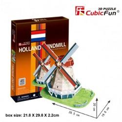 3D Puzzel - Oud Hollandse Windmolen (45 stukjes)