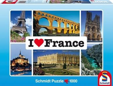 I Love France Puzzel