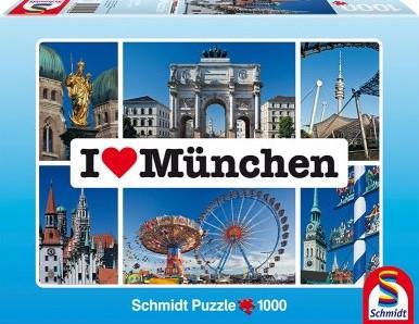 I Love Munchen Puzzel