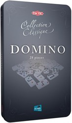 Domino in tin box