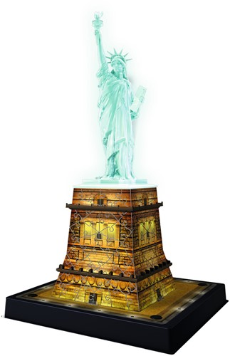 3D Puzzel - Statue of Liberty - Night Edition (108 stukjes)-2