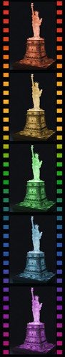 3D Puzzel - Statue of Liberty - Night Edition (108 stukjes)-3