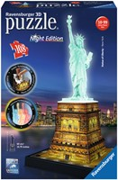 3D Puzzel - Statue of Liberty - Night Edition (108 stukjes)
