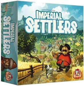 Nederlandstalige versie van het bordspel imperial settlers. kolonisten van vier wereldmachten hebben een ...