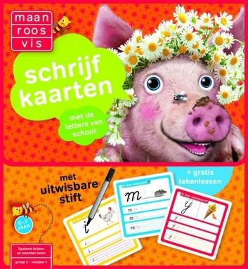 Maan Roos Vis - Schrijfkaarten