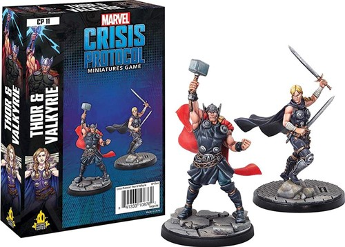Marvel Crisis Protocol - Thor and Valkyrie Character
