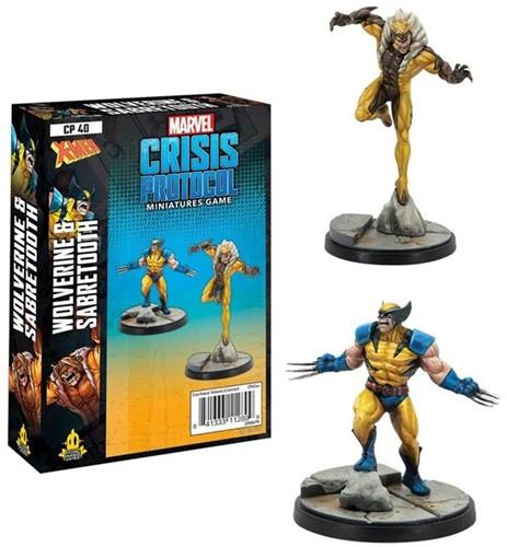 Marvel Crisis Protocol - Wolverine and Sabretooth
