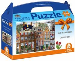 Amsterdam - Parade van Grachtenpanden Puzzel (1000 stukjes)