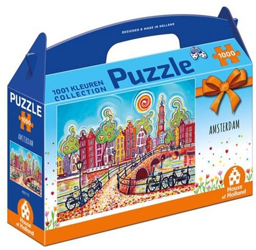 1001 Kleuren - Amsterdam Puzzel (1000 stukjes)-1