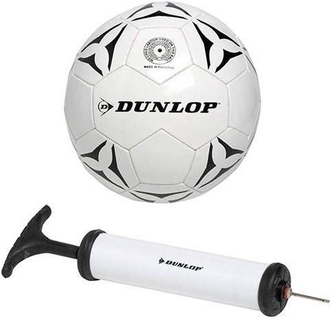 Dunlop Leren Voetbal + Pomp
