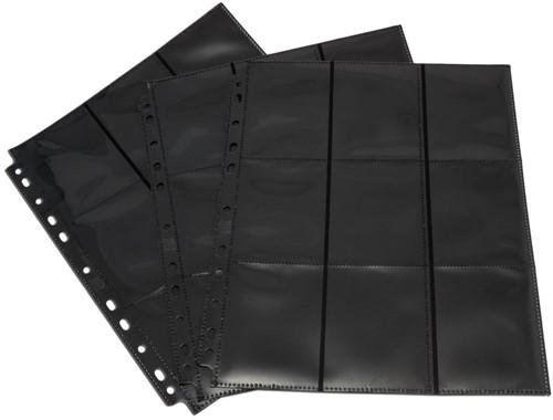 Blackfire 18-Pocket Pages - Black - Side-Loading (50 stuks)